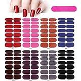 MWOOT 8 Fogli Unghie Adesivi Decalcomanie,Tinta unita Autoadesivo Nail Art Stickers, Adesivo Smalto per Unghie Manicure le Pu