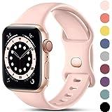 CeMiKa Compatible con Apple Watch Correa 38mm 42mm 40mm 44mm, Deportivas de Silicona Correas de Repuesto Compatible con iWatc