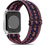 Amzpas Regolabile Rlastico Cinturino Compatibile per Apple Watch 44mm 42mm 40mm 38mm, Cinturino Sportivo in Morbido Tessuto p