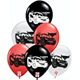 HK balloons® Printed car Themed Birthday Party Decoration Latex Balloons (Car Themed McQueen Printed Balloon) ( Pack of 30)