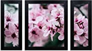 Home Attire HAP-1103 Beautiful Flower Paintings- Set of 3 (6x14inch-2, 12X14inch -1)
