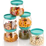 Joie Airtight Container Jar Set For Kitchen - 900ml Set Of 6, Jar Set For Kitchen, Kitchen Organizer Container Set Items, Air
