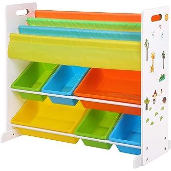 Songmics meuble de rangement pour jouets et livres chambre d 39 enfant gkr03w cuisine - Meuble de rangement pour enfants ...