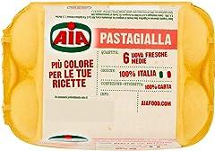 AIA Pasta Gialla da Galline Allevate a Terra 6 Uova Fresche Medie - 340 gr