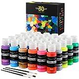Magicfly Tempere Lavabili per Bambini, 30 Colori x 60 ml, Tempera Colori a Dita per Bambini Atossici Lavabili, Tempere per Di