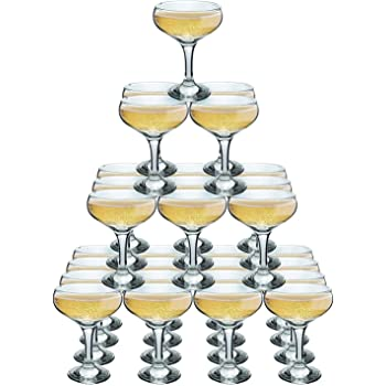 6812950ca00e Rink Drink Champagne Glasses Vintage Coupe Glass Saucer 200ml Pack of 24
