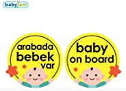 Baby Jem Araba Cam Yazısı Dikkat Bebek Var