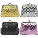 mciskin 4 pezzi mini Trapuntato portamonete portafoglio da donna borsa portamonete piccolo carino borsa portaoggetti per chia