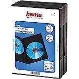Hama Slim Box - Carcasa doble para DVD (10 unidades), negro