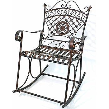 Best Dandibo Garten Gartenstuhl Metall Stuhl Schaukel Dy Braun Eisen Antik  With Stuhl Metall Antik
