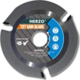 HERZO Grinder Wood Cutting Blade Disc 125mm, Carbide Carving Discs for Angle Grinder Woodcarving, Sculpting, Shaping, Groovin
