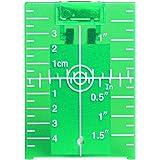 Huepar TP01G Target Laser Verde, Targetboard Laser Magnetico con Riflettori, Utilizzare per Strumenti Laser/Livella Laser Ver