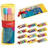 """Stylo feutre pointe fine - STABILO Point 88 - Rollerset 25 stylos-feutres dont 5 Fluo - Edition limitée """"Individual just like"""