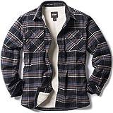 CQR Men's Long Sleeved Sherpa Fleece Lined Lumberjack Brushed Flannel Rugged Plaid Shirt Jacket