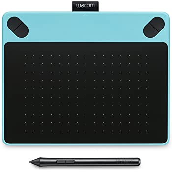 Wacom Intuos Draw Pen Tablet in Blue (Size: S) – Small Graphic Tablet incl. ArtRage Lite Software Download and the Precise Wacom Intuos Pen – Compatible with Windows and Apple