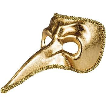 Boland 00216Maschera per gli occhi Venice naso oro, Costume, One size