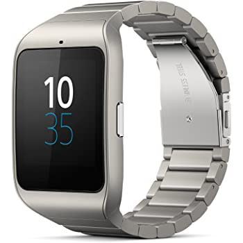 Sony SWR50 1.6-Inch Transflective Display SmartWatch 3 for Android wear Android 4.3 and onwards - Black Stainless steel