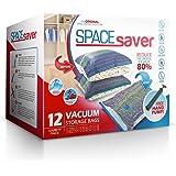 Spacesaver Premium Sacs de Rangement sous Vide 80% Plus de Rangement! Pompe à Main pour Voyager Double Fermeture éclair et Tu