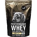nu3 Whey Protein performance - 1kg Vanille – 33 portions de Shake prise de masse musculaire rapide à préparer - Excellente so