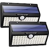 HETP Lampe Solaire Extérieur [Version à économie D'énergie] 2 Pack 78 led 2000mAh Détecteur de Mouvement éclairage Solaire Ex