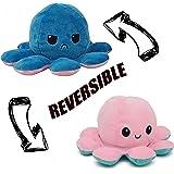 Desconocido Pulpo Reversible de Peluche, Pulpito Reversible, Pulpo TIK Tok, Rosa y Azul, Octopus Reversible, Peluche Pulpo Re