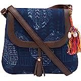 Vivinkaa Indigo Ethnic Printed Sling Bag for Women