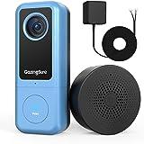 GazingSure Videocitofono WiFi, 2K QUAD HD, citofono con campanello, zona di rilevamento intelligente, funziona con Alexa, arc