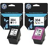 Bipack Original HP 304 1x zwart N9K06AE + 1x kleur N9K05AE