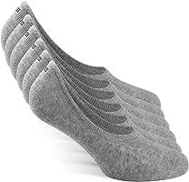 Snocks ? Herren & Damen Unsichtbare Sneaker Socken (6x Paar) Extra Gro?es Silikonpad Verhindert Verrutschen