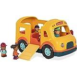 Battat Lights & Sounds School Bus giocattolo per bambini (include conducente + 4 passeggeri)