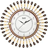 """CIRCADIAN Wooden Hand Painted Wall Clock for Home/Living Room & Office (13"""" X 13"""", Multicolor)"""