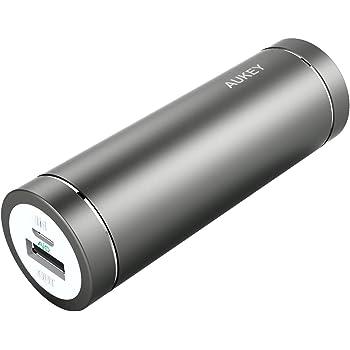AUKEY Batterie Externe 5000mAh pour iPhone 7 / 7 Plus / Samsung Galaxy S6 et les autres Smartphones, un Câble Micro-USB de 20cm Inclus (Gris)