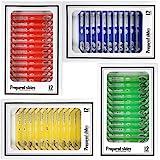 Vetrini Preparati per Microscopio per Bambini, Bysameyee Plastica 48 pezzi Animali Insetti Piante Fiori Campioni Campioni per
