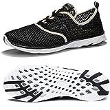 NewDenBer Zapatos acuáticos de malla para hombre y mujer, de secado rápido