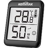 Hommak Mini Higrómetro Termómetro, Digital Termohigrómetro Interior, Medidor para Temperatura y Humedad, Casa, Hogar, Oficina