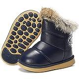Zapatos Invierno Niña Niño Calentar Forradas Zapatillas Botines Planas para Anti-Deslizante Unisex Niños 21-30