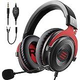 EKSA Gaming Headset PC Headset Surround Sound Headset met Zachte Geheugen Oorbeschermers voor PS4 PS5 Afneembare Ruisonderdru