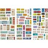 Falary Lot de 3 Feuilles Timbre Stickers Bullet Journal Accessoires Gommettes Autocollants pour Scrapbooking Loisirs Creatifs