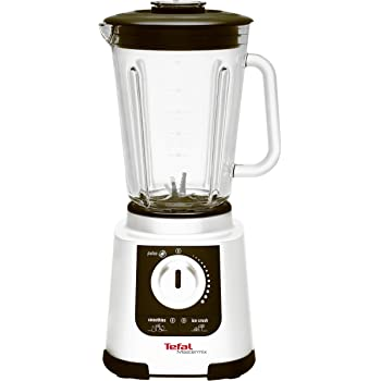 Tefal Mastermix Blender BL800140, 1.5 L High Performance Glass Jug with 20 Speeds and Pulse Function - White