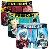 Freegun - Lot de 3 Boxers Fantaisie Homme Microfibre Confort - Disney - Marvel - Looney Tunes - Dragon Ball Z - Star Wars - P