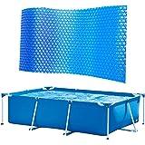 Zonne-zwembadhoes, afdekzeil voor zwembad, dikke en stabiele zonnefolie, bescherming tegen verdamping en corrosie, voor zwemb