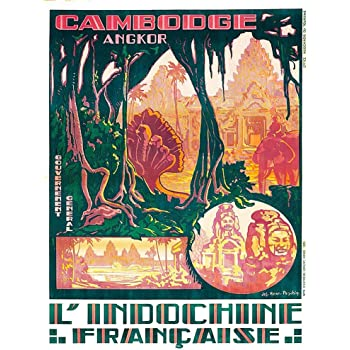 Vintage French Indo China Vietnam Tourism  Poster   A3 Print