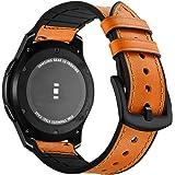 Aottom Compatible pour Bracelet Samsung Gear S3 Frontier,Bracelet Samsung Galaxy Watch 46mm en Cuir Bracelet Montre Samsung G