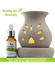 Breathefresh Pureefy Antibacterial Essential Oil Blend- Natural Air Purifier (With Electric Diffuser)