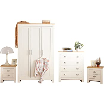 YAKOE 3-Piece Country Style Ledbury Bedroom Furniture Set ...