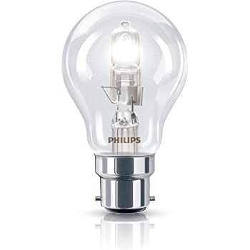 4x Philips 42W = 55W ES E27 Halogen GLS standard bulb lamp dimmable 630lm