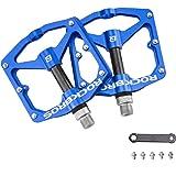 """ROCKBROS Pedali in Alluminio per Bici MTB Pedali Bicicletta Ciclismo Universali 9/16"""" Sigillati CNC Taglio Anodizzazione Supe"""