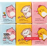MINISO Z-Cartoon Portable Facial Tissue Paper,Pocket Facial Tissues[8*3 layers](18 Packs as A Selling Unit)