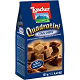 Loacker Quadratini Chocolate Bite Size Wafer Cookies,125 GMS