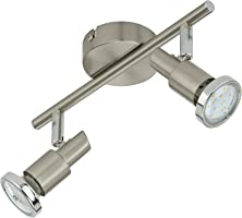 Briloner Leuchten LED Deckenleuchte, 2 dreh- & schwenkbare LED-Spot-Lights, Decken-Lampe, Metall, Strahler inkl....